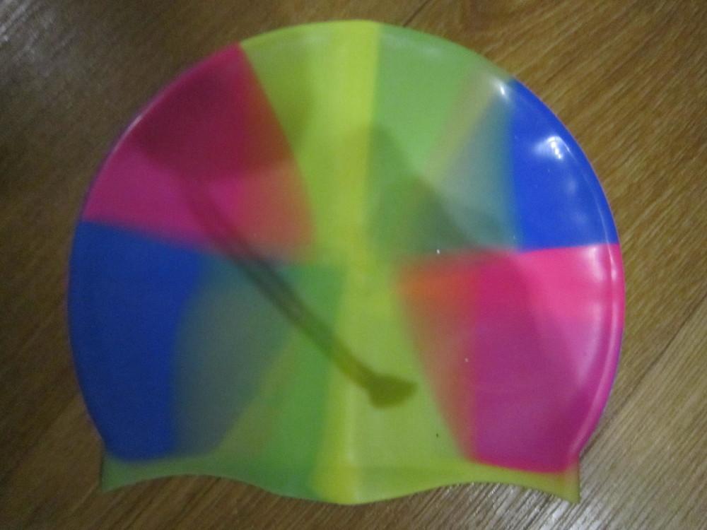 Силиконовая шапочка для плавания фото №2