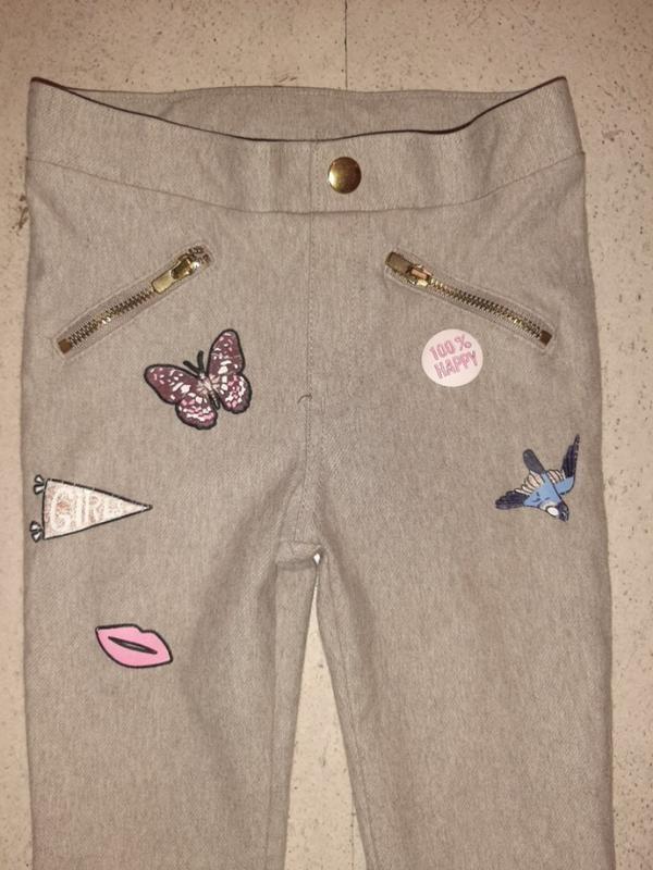 Стильные фирменные леггинсы лосины джинсы штаны h&m фото №2