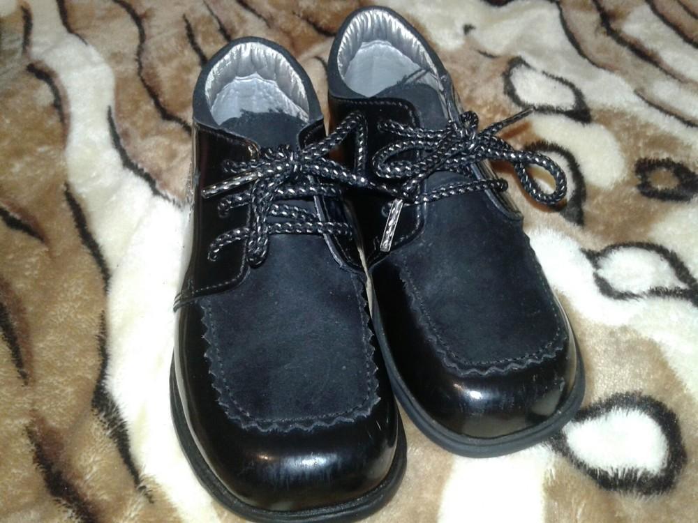 Лаковые туфли кожа 13 см стелька фото №1