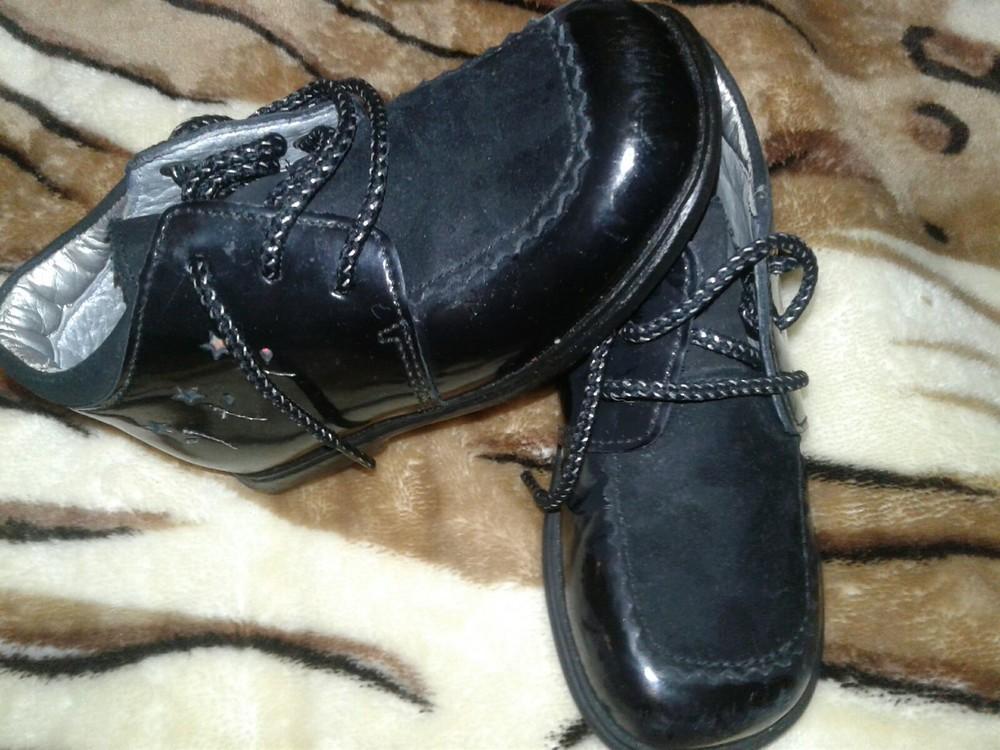 Лаковые туфли кожа 13 см стелька фото №3