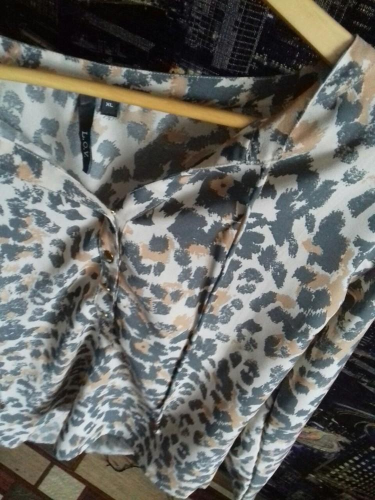 Красивая блузка леопардовый принт,р-р 46-48 фото №4