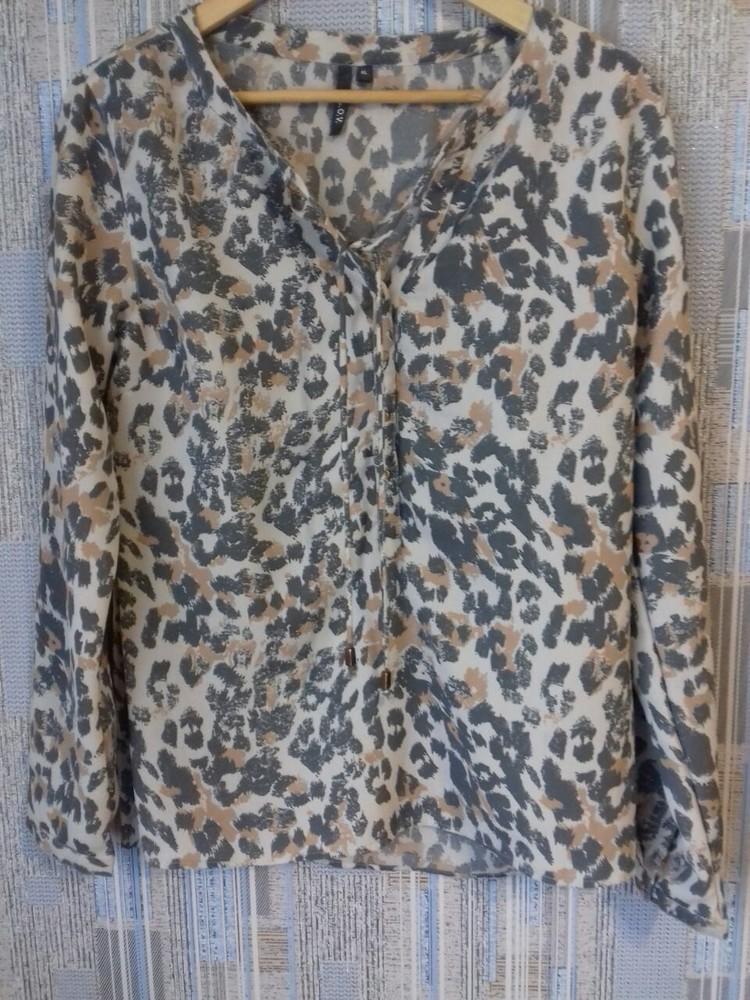 Красивая блузка леопардовый принт,р-р 46-48 фото №5