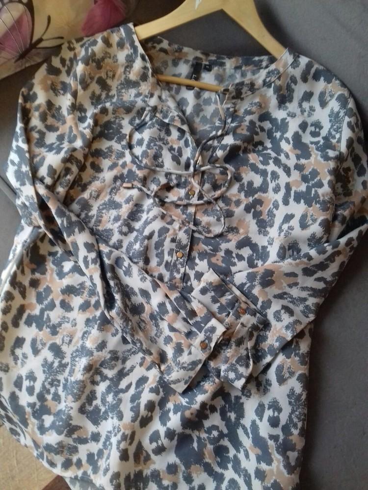 Красивая блузка леопардовый принт,р-р 46-48 фото №1