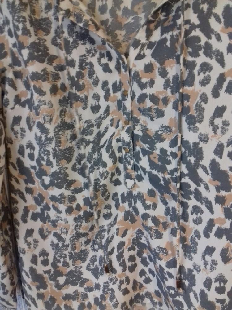 Красивая блузка леопардовый принт,р-р 46-48 фото №6