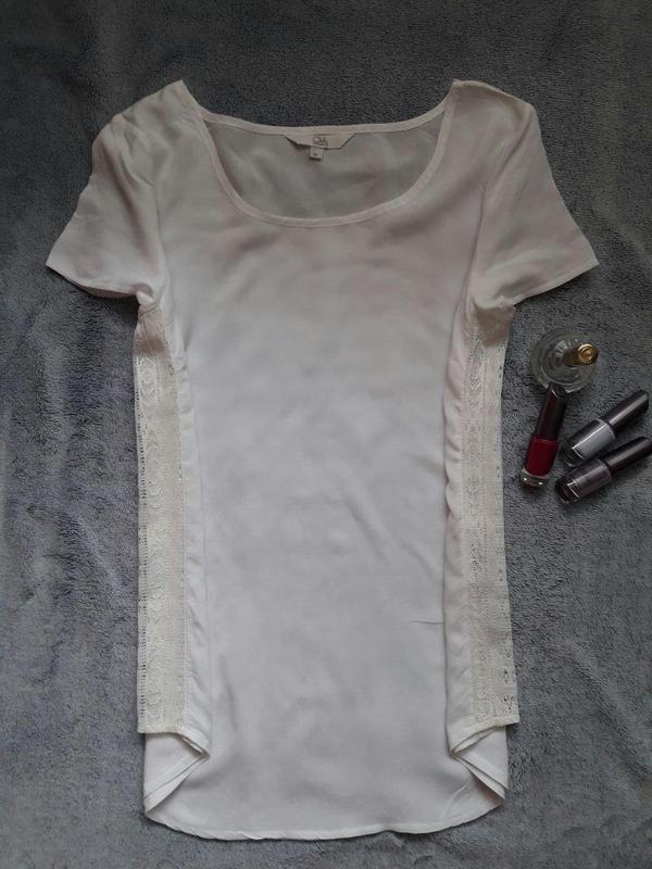 Нарядна ніжна блуза з мереживом clockhouse фото №2
