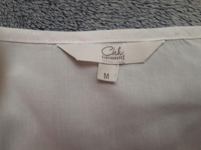 Нарядна ніжна блуза з мереживом clockhouse фото №5