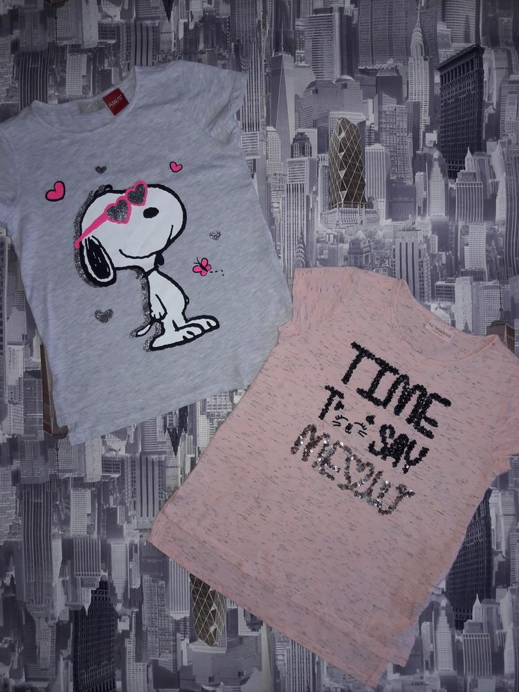 Модные футболочки на 8-9 лет. как новые. фото №1
