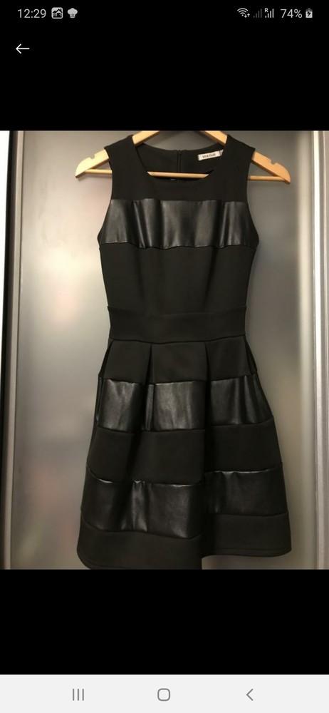Платье из эко кожи и дайвинга фото №1
