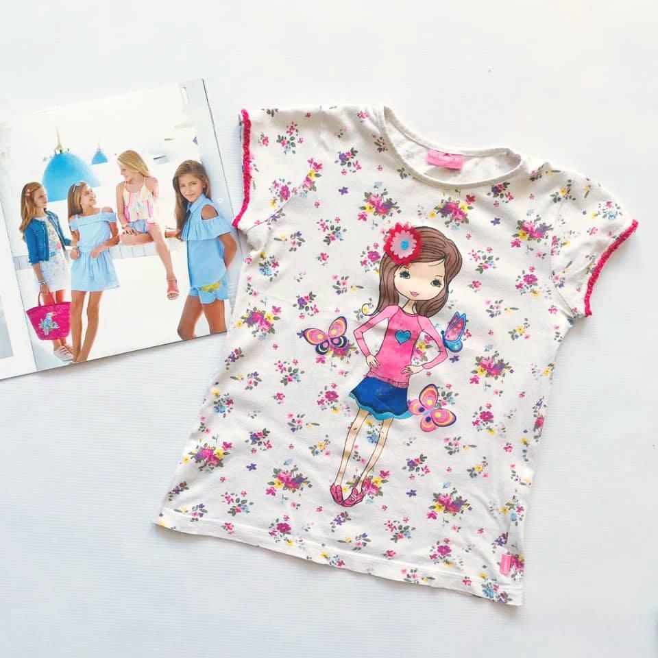 Стильная футболка lc waikiki с нежным цветочным принтом на р128-134 фото №1