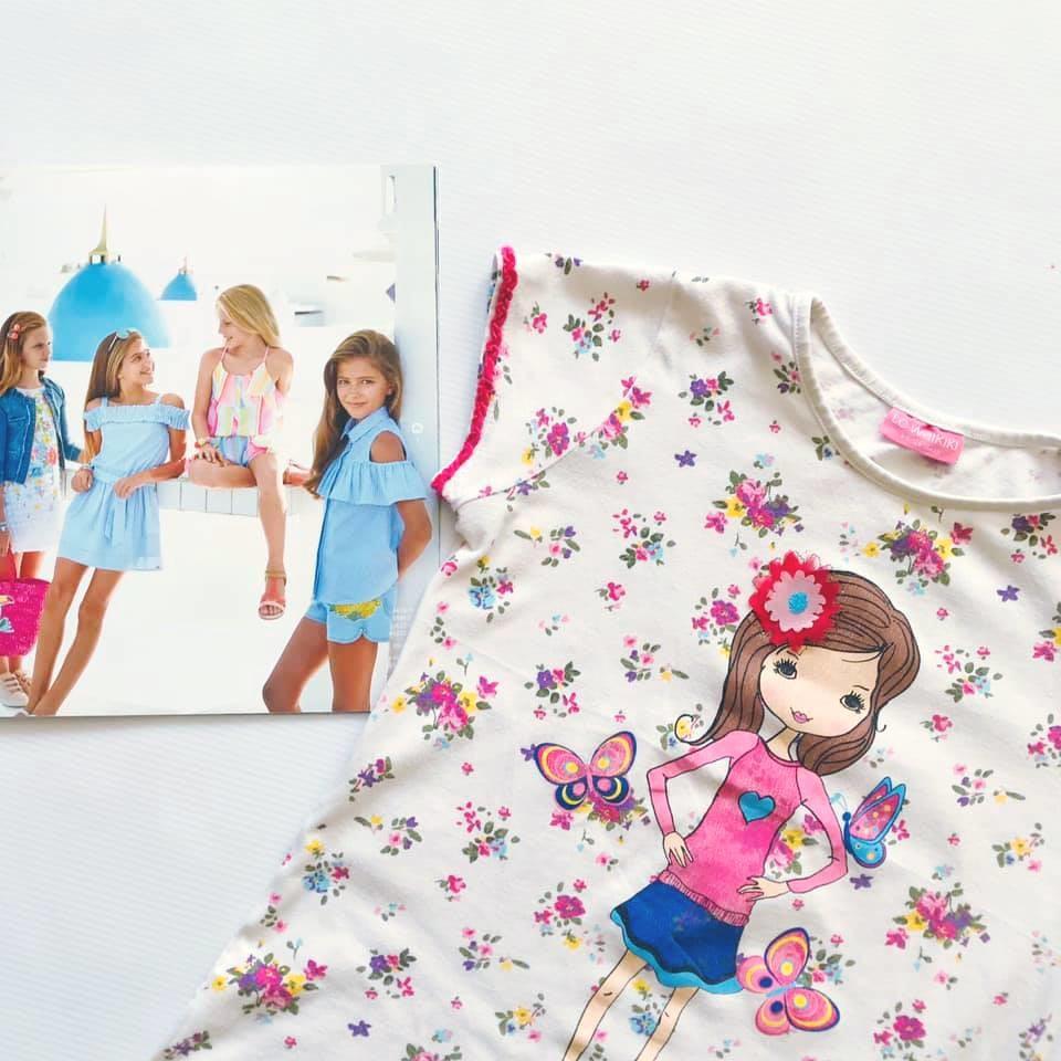 Стильная футболка lc waikiki с нежным цветочным принтом на р128-134 фото №2