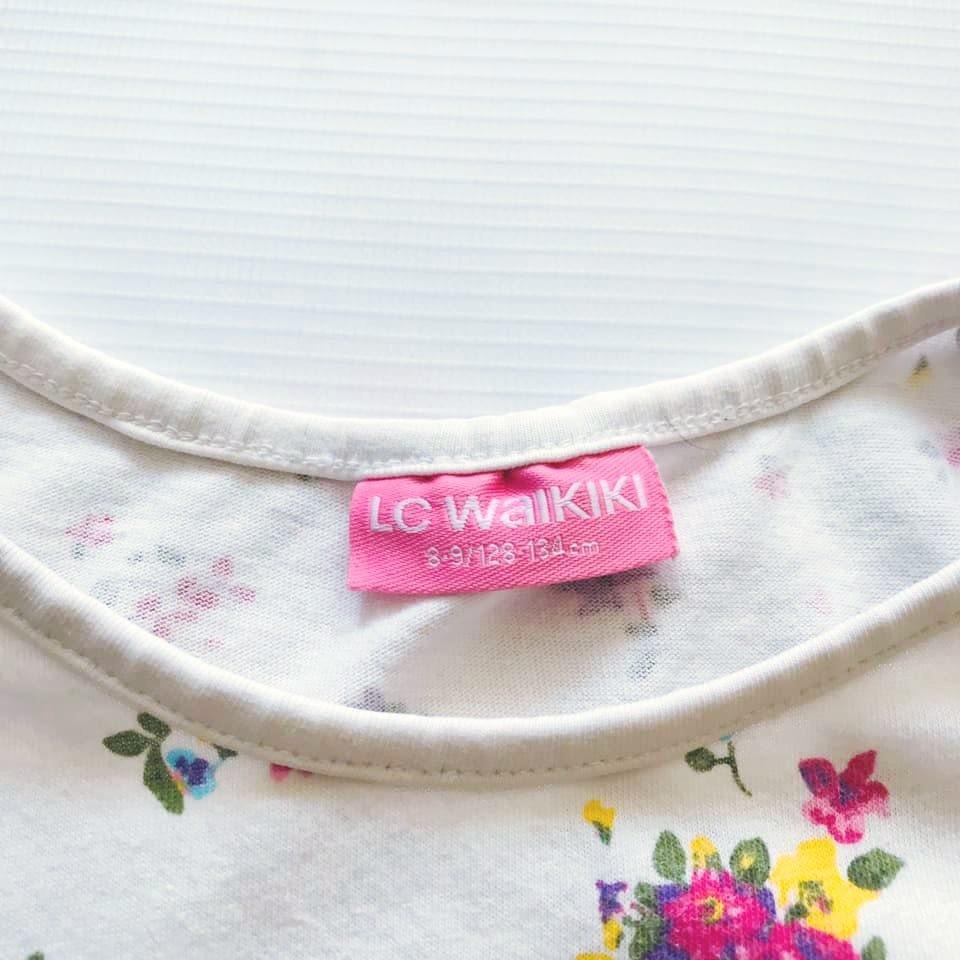 Стильная футболка lc waikiki с нежным цветочным принтом на р128-134 фото №3