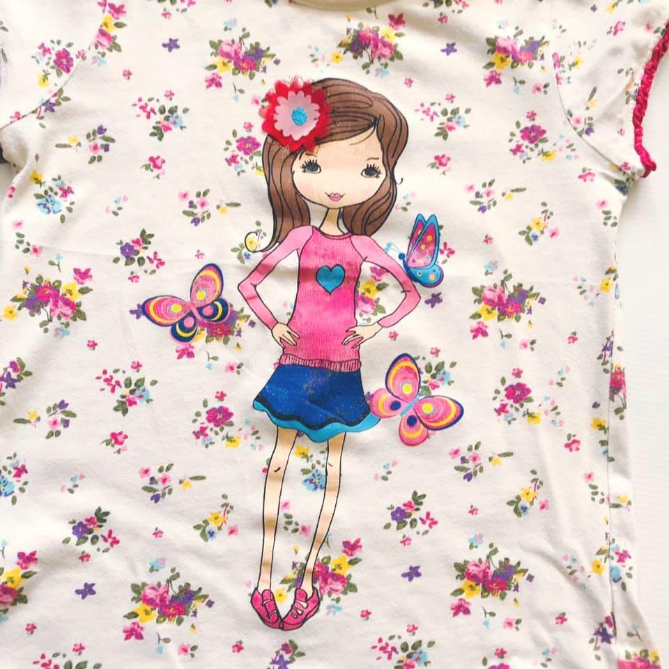 Стильная футболка lc waikiki с нежным цветочным принтом на р128-134 фото №5