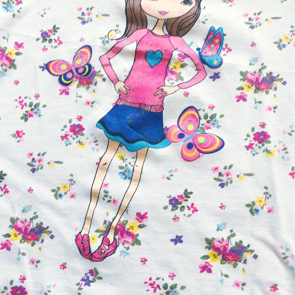 Стильная футболка lc waikiki с нежным цветочным принтом на р128-134 фото №7