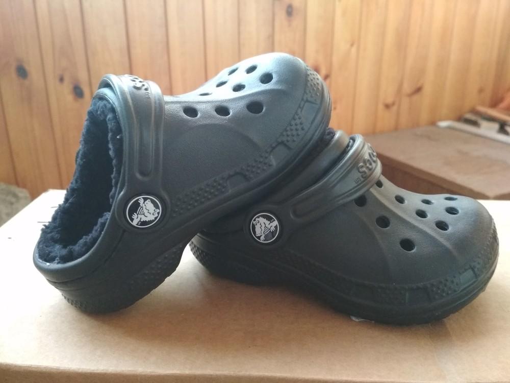 Детские кроксы crocs, оригинал usa, утепленные, размер c6/7, eur23/24, 13.5 см фото №10