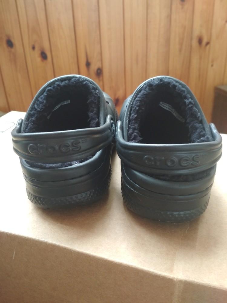 Детские кроксы crocs, оригинал usa, утепленные, размер c6/7, eur23/24, 13.5 см фото №4