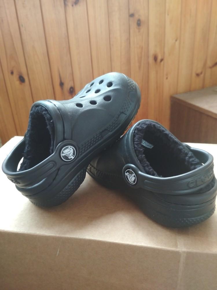 Детские кроксы crocs, оригинал usa, утепленные, размер c6/7, eur23/24, 13.5 см фото №5