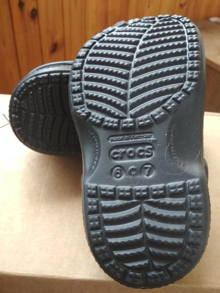 Детские кроксы crocs, оригинал usa, утепленные, размер c6/7, eur23/24, 13.5 см фото №6