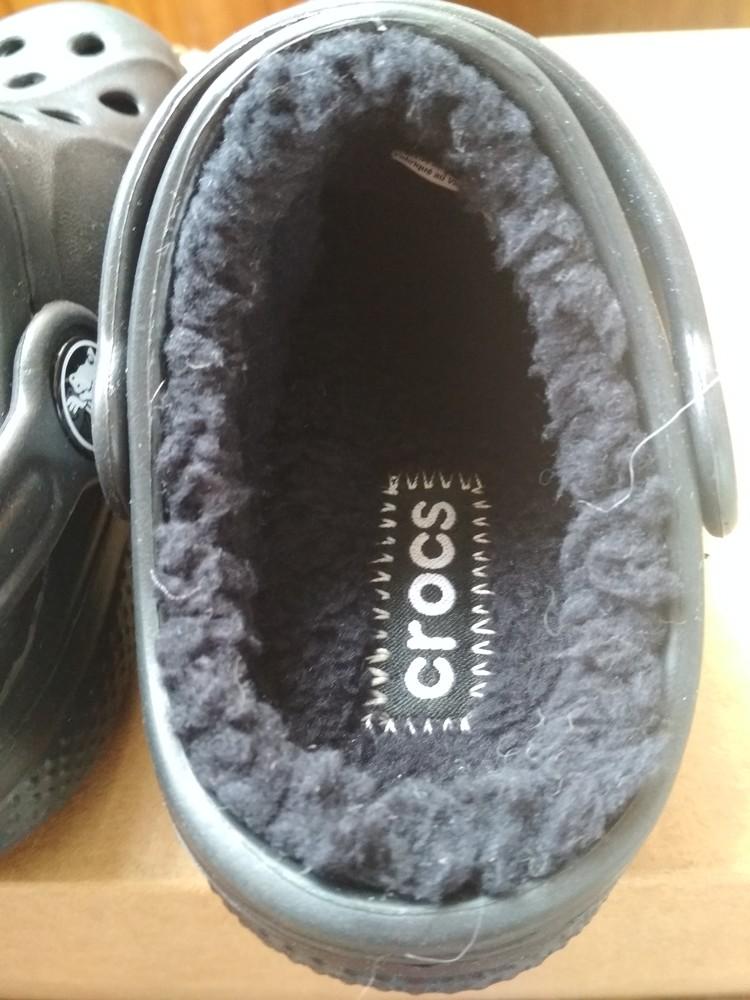 Детские кроксы crocs, оригинал usa, утепленные, размер c6/7, eur23/24, 13.5 см фото №7