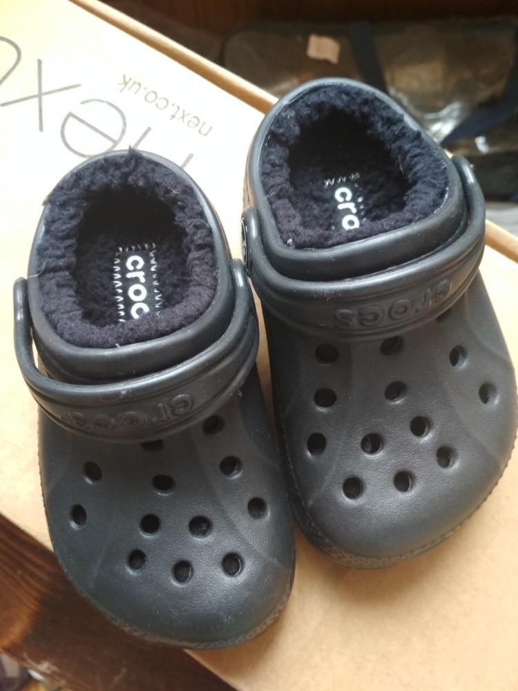 Детские кроксы crocs, оригинал usa, утепленные, размер c6/7, eur23/24, 13.5 см фото №8