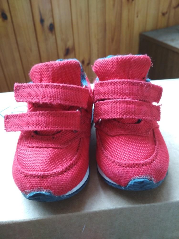 Детские кроссовки oshkosh, оригинал сша, красные, мальчику и девочке, размер us4 eur19 12.5 см фото №9