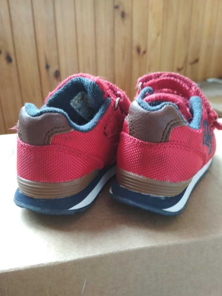 Детские кроссовки oshkosh, оригинал сша, красные, мальчику и девочке, размер us4 eur19 12.5 см фото №10