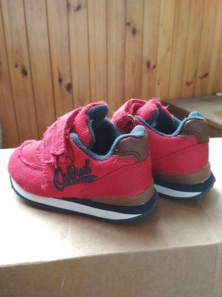 Детские кроссовки oshkosh, оригинал сша, красные, мальчику и девочке, размер us4 eur19 12.5 см фото №3