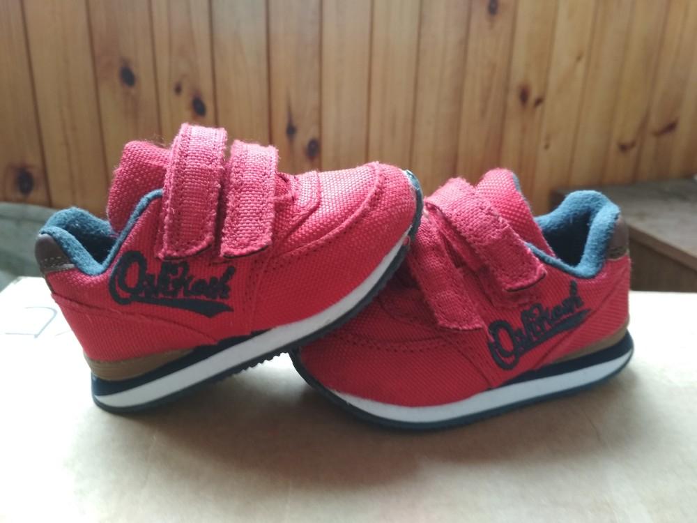Детские кроссовки oshkosh, оригинал сша, красные, мальчику и девочке, размер us4 eur19 12.5 см фото №4