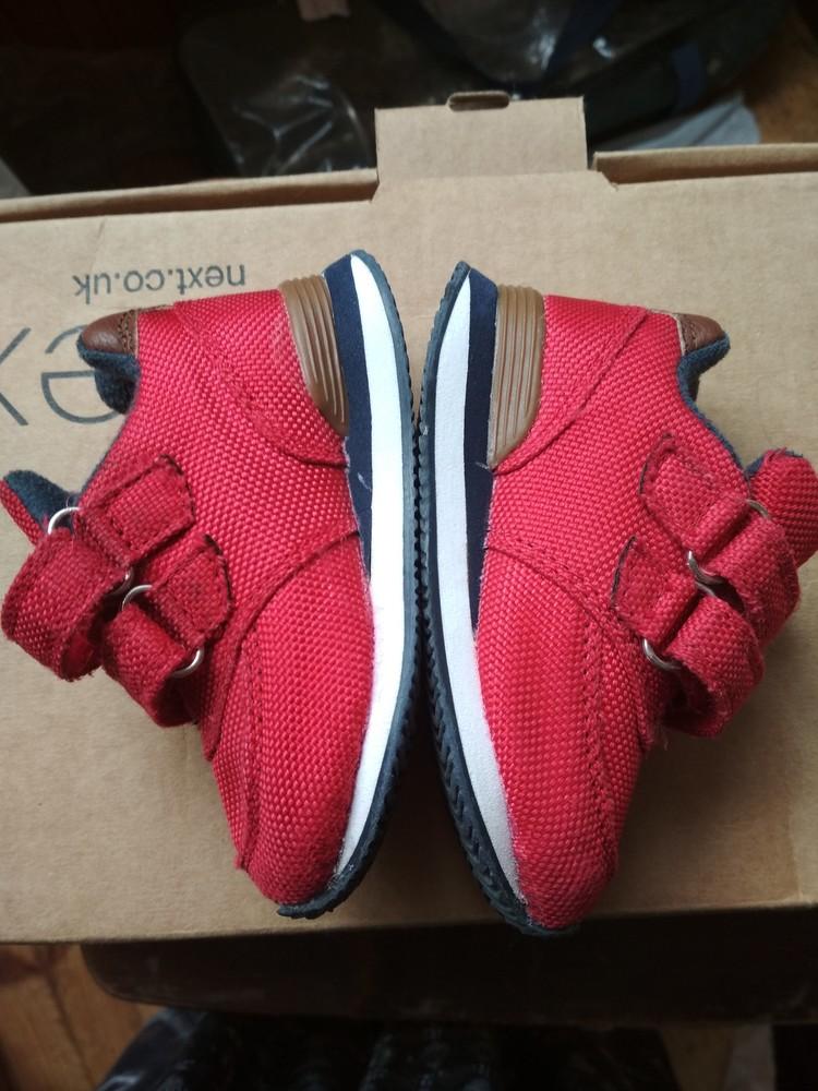 Детские кроссовки oshkosh, оригинал сша, красные, мальчику и девочке, размер us4 eur19 12.5 см фото №6