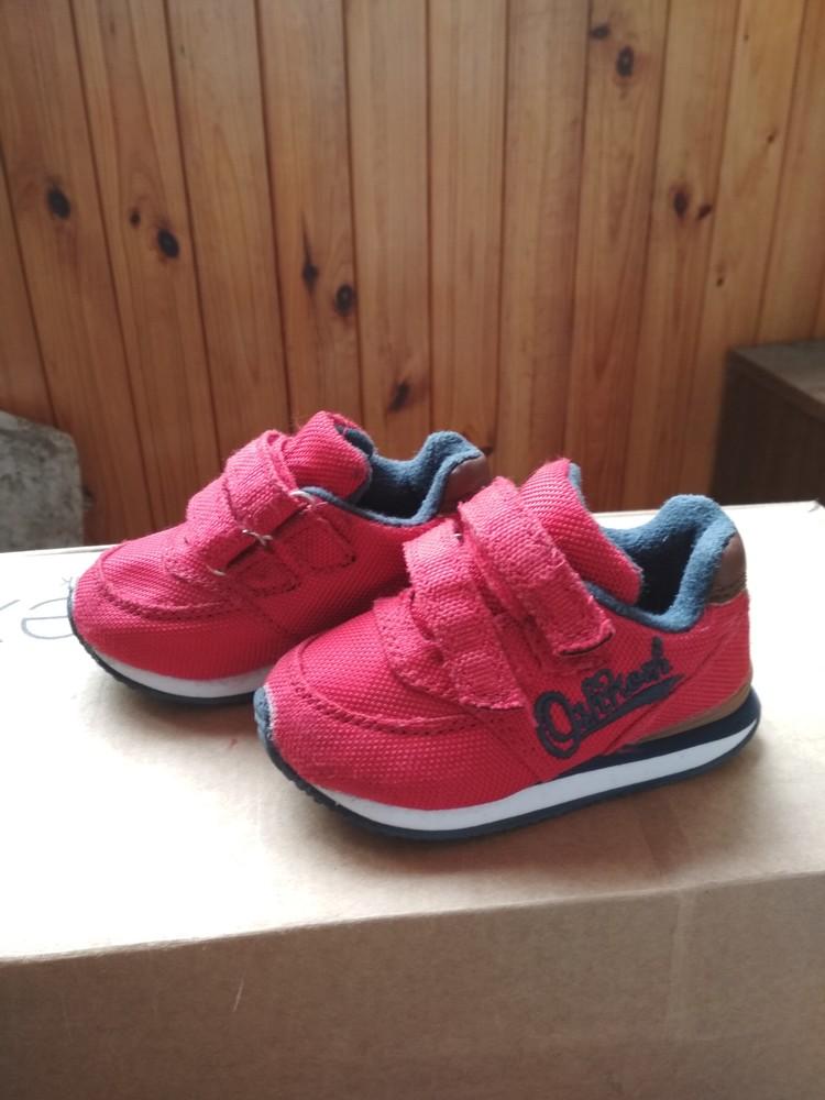 Детские кроссовки oshkosh, оригинал сша, красные, мальчику и девочке, размер us4 eur19 12.5 см фото №7