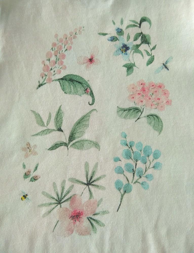 Нежная летняя пижама с цветами next р. 2-3 года фото №3