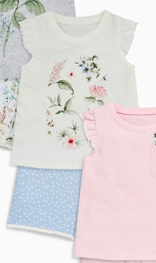 Нежная летняя пижама с цветами next р. 2-3 года фото №1