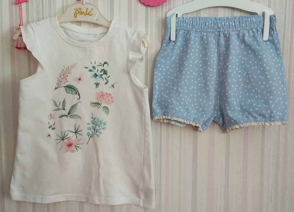 Нежная летняя пижама с цветами next р. 2-3 года фото №2
