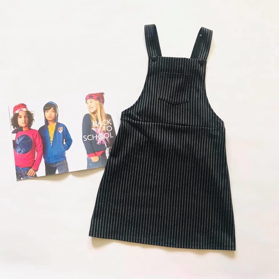 Школа - next - мега стильный сарафан в полоску, есть карманчик р140/146 фото №2
