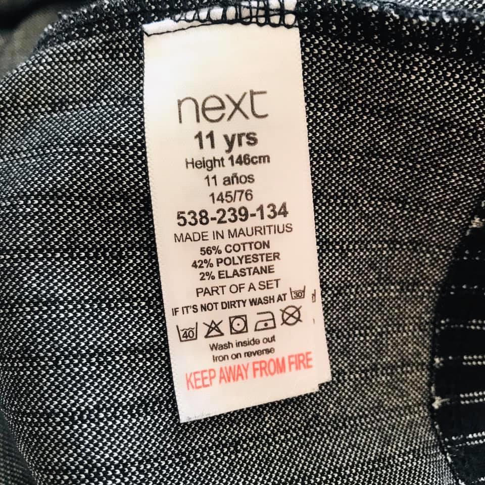 Школа - next - мега стильный сарафан в полоску, есть карманчик р140/146 фото №7