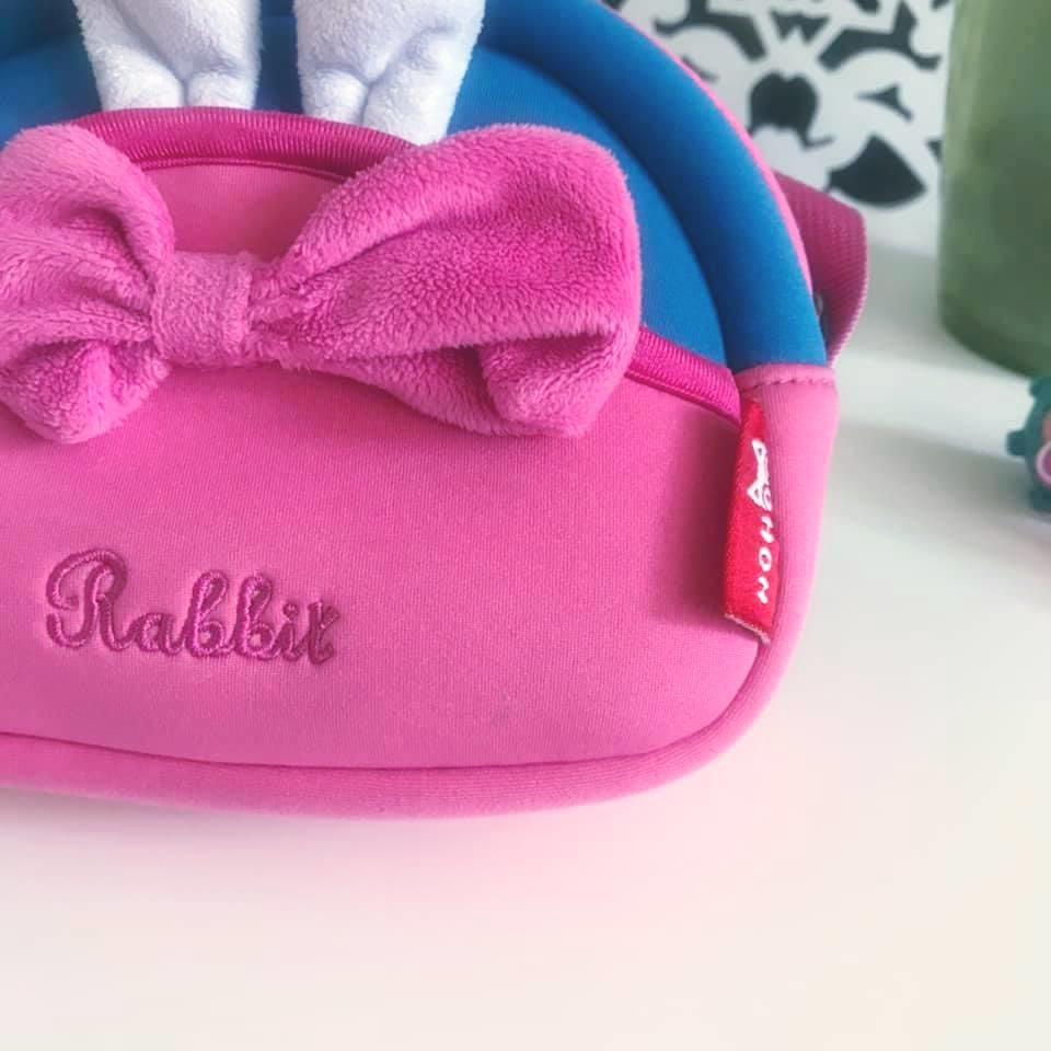 Школа - nohoo сумка rabbit - с ушками кролика и бантиком, много отделений фото №10
