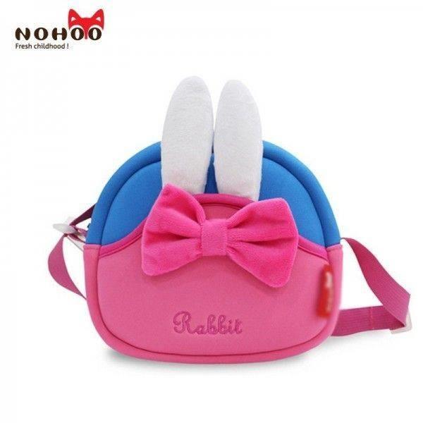 Школа - nohoo сумка rabbit - с ушками кролика и бантиком, много отделений фото №2