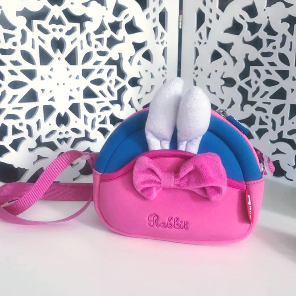 Школа - nohoo сумка rabbit - с ушками кролика и бантиком, много отделений фото №7