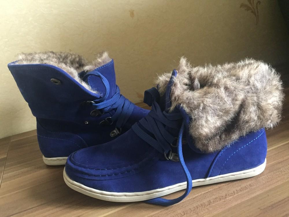 Стильні черевички утеплені. розмір 38 маломірки фото №3