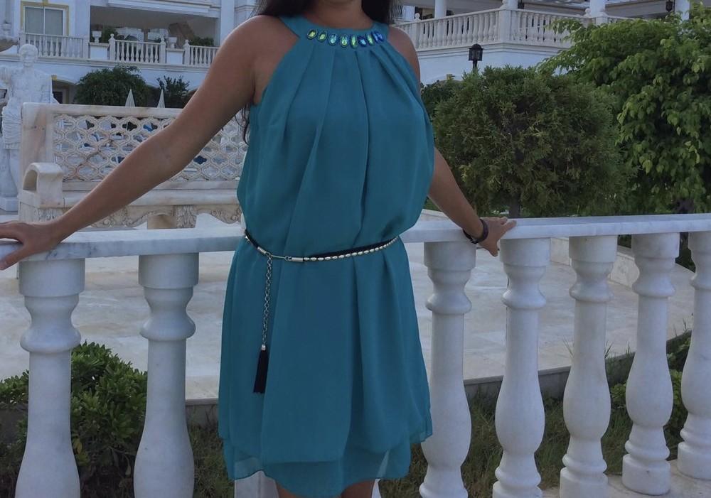 Нарядное летнее платье + пояс в подарок фото №1