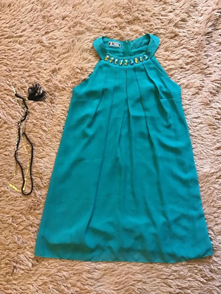 Нарядное летнее платье + пояс в подарок фото №2