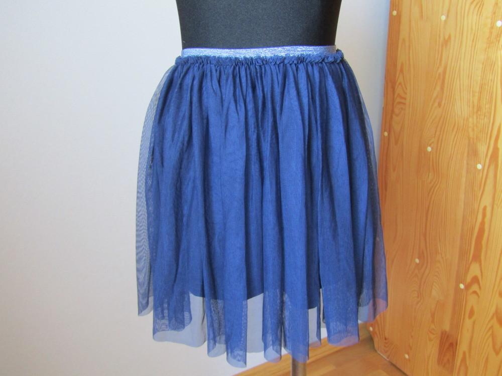 Фирменная юбка-тату из мягкой сетки на подкладке,италия, на рост 118-122 фото №1