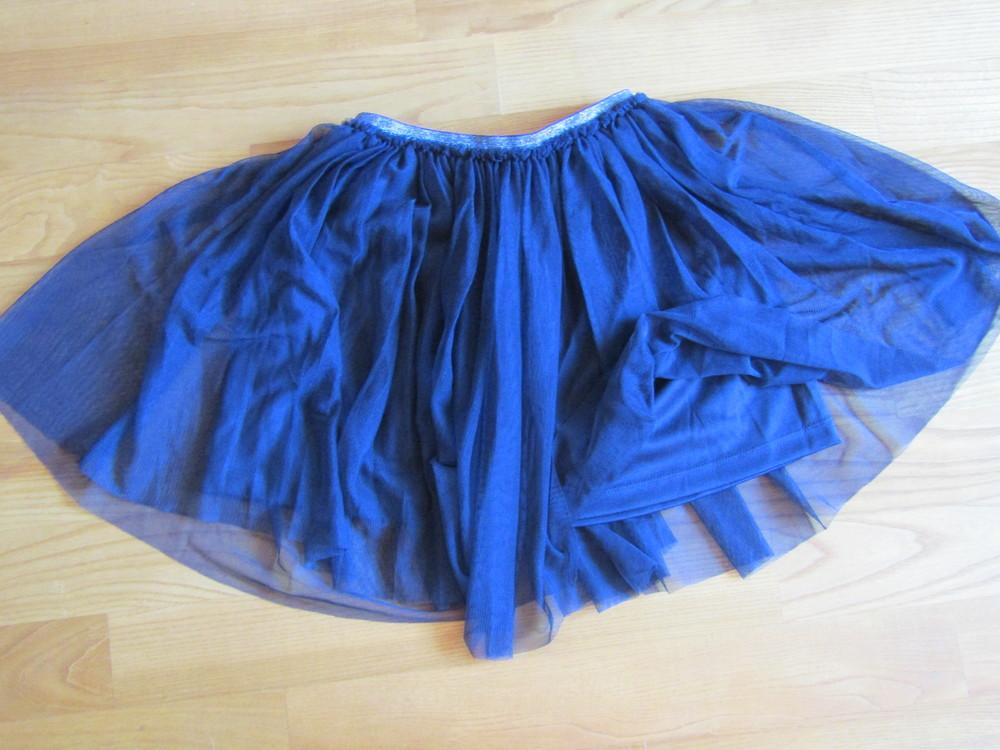 Фирменная юбка-тату из мягкой сетки на подкладке,италия, на рост 118-122 фото №3