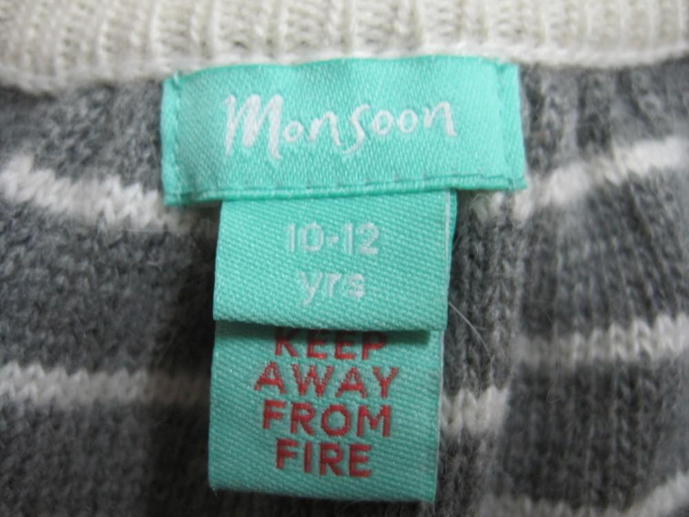 1/738. свитер для девочки. на 10-12 лет (см. замеры). monsoon. состояние нового!!! фото №4